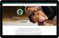 This is the home page of the Woodstock Dog Club's website
