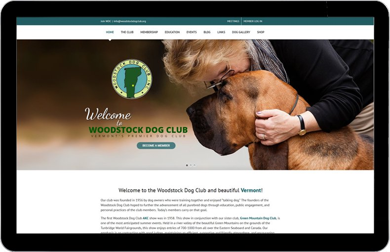 Woodstock Dog Club website