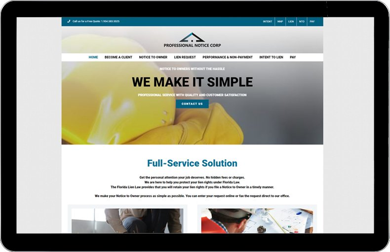 Professional Notice Corp. website.