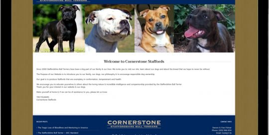 Cornerstone Staffords links to website.