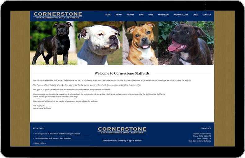 Cornerstone Staffords links to website.
