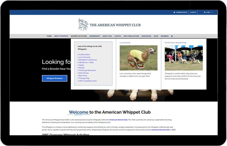 American Whippet Club Mega Menu